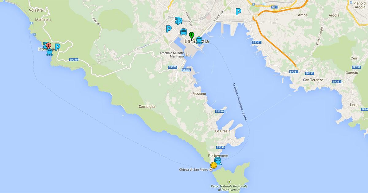 Porto Venere Useful Maps