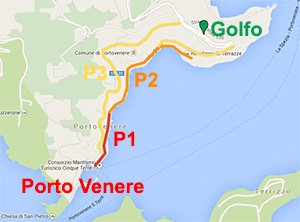 Parking map in Portovenere